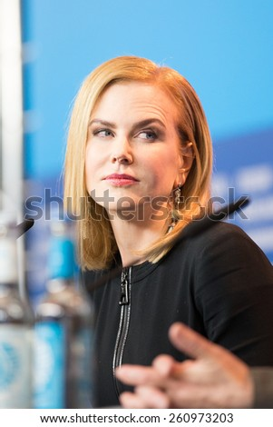 BERLIN, GERMANY - FEBRUARY 06: Nicole Kidman attends the 'Queen of the Desert' press conference during the 65th Berlinale Film Festival at Grand Hyatt Hotel on February 6, 2015 in Berlin, Germany. - stock photo
