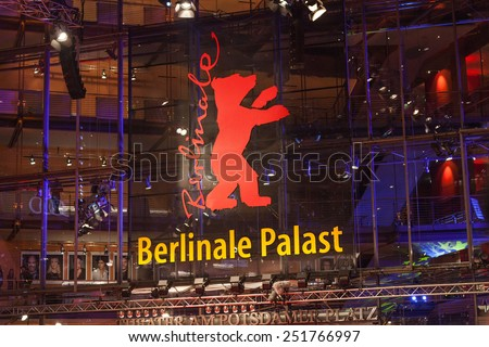 BERLIN, GERMANY - FEBRUARY 05: Opening Ceremony of the 65th Berlinale International Film Festival at Berlinale Palace on February 5, 2015 in Berlin, Germany. - stock photo