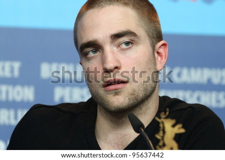 BERLIN, GERMANY - FEBRUARY 17:  Robert Pattinson attends the 'Bel Ami' Press Conference during of the 62nd Berlin International Film Festival at the Grand Hyatt on February 17, 2012 in Berlin, Germany - stock photo