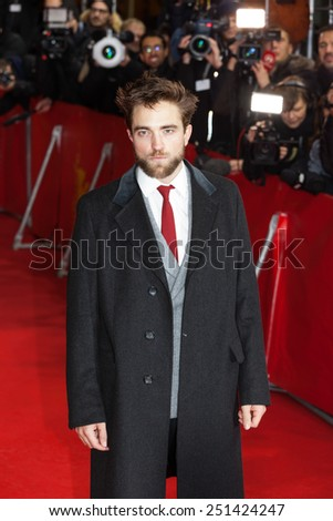 BERLIN, GERMANY - FEBRUARY 09: Robert Pattinson attends the 'Life' premiere during the 65th Berlinale International Film Festival at Zoo Palast on February 9, 2015 in Berlin, Germany - stock photo