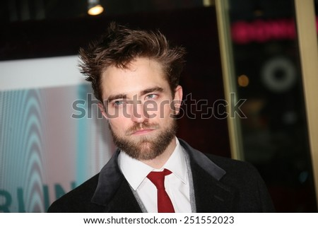 BERLIN, GERMANY - FEBRUARY 09: Robert Pattinson attends the 'Life' premiere during the 65th Berlinale International Film Festival at Zoo Palast on February 9, 2015 in Berlin, Germany. - stock photo
