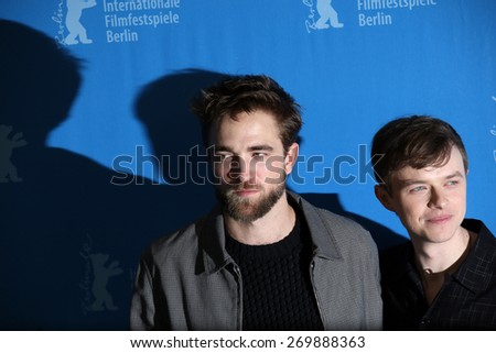 BERLIN, GERMANY - FEBRUARY 09: Robert Pattinson, Dane DeHaan attend the 'Life' photocall during the 65th Berlinale Film Festival at Grand Hyatt Hotel on February 9, 2015 in Berlin, Germany. - stock photo