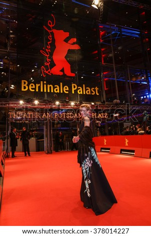 Berlin, Germany - February 11, 2016 -russian actress Anna Skidanova attends the 'Hail, Caesar!' premiere during the 66th Berlinale International Film Festival - stock photo