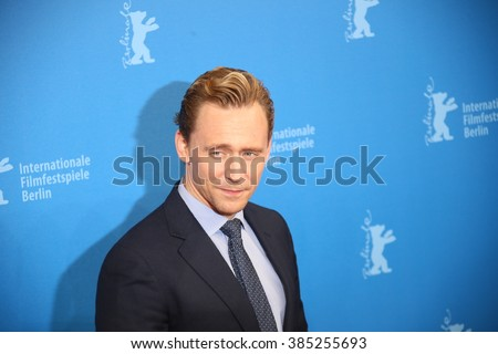 Berlin, Germany - February 18, 2016 - Tom Hiddleston attends the 'The Night Manager' premiere during the 66th Berlinale International Film Festival - stock photo