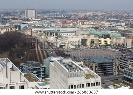 berlin germany from above - stock photo