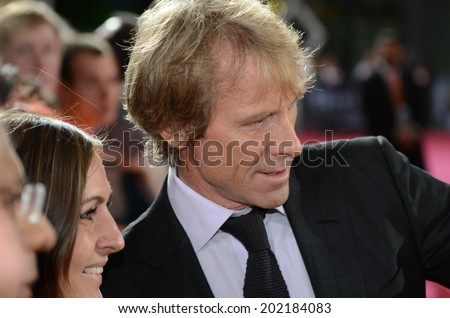 BERLIN - GERMANY - JUNE 29: Michael Bay at the European premiere from Transformer 4 - Age of Extinction at CineStar,Sony Center on June 29, 2014 in Berlin, Germany. - stock photo