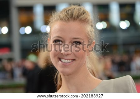 BERLIN - GERMANY - JUNE 29: Nina Eichinger at the European premiere from Transformer 4 - Age of Extinction at CineStar,Sony Center on June 29, 2014 in Berlin, Germany. - stock photo