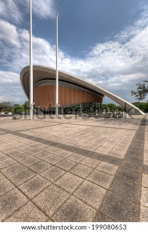 BERLIN, GERMANY - MAY 7 2014: The Haus der Kulturen der Welt (House of the Cultures of the World) in West Berlin, taken on May 7 2014. - stock photo