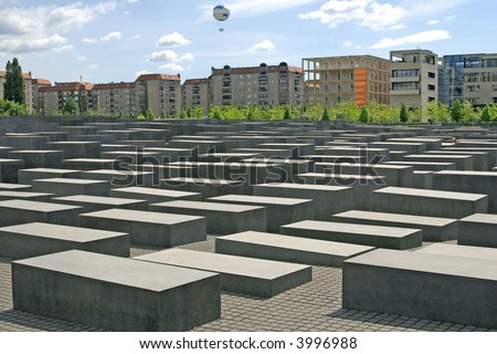 Berlin's controversial memorial to the Jews who died in the Holocaust - stock photo