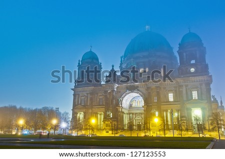 Berliner Dom (Berlin Cathedral) is a temple of the Evangelical Church in Berlin, Germany - stock photo