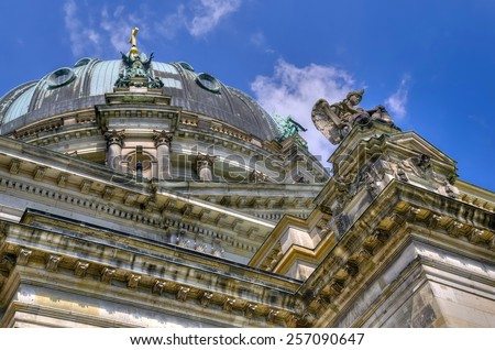 Berliner Dom cathedral church in Berlin, Germany. One of the most famous monuments, located on Museum Island in the Mitte borough. - stock photo