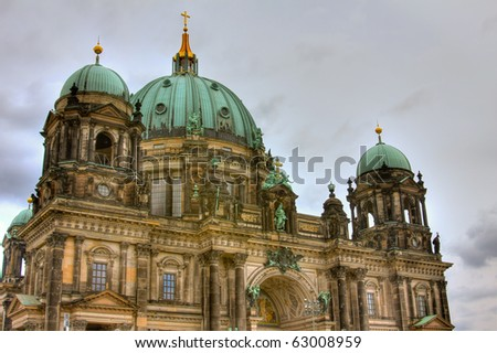 berliner dom hdr - stock photo