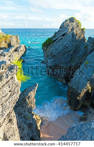 Bermuda Jobsons Cove - stock photo