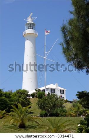 Bermuda Lighthouse - stock photo
