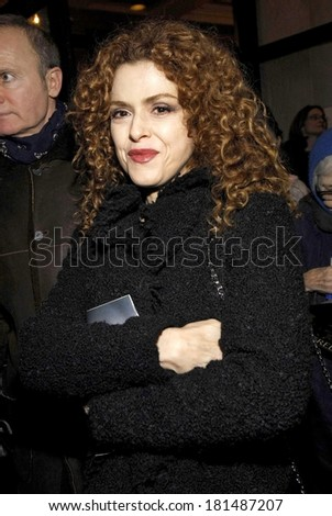 Bernadette Peters at TALK RADIO Opening Night on Broadway - ARRIVALS, The Longacre Theatre, New York, NY, March 11, 2007 - stock photo