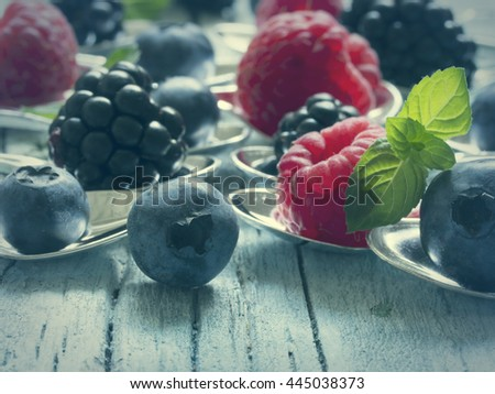 berry fruit,, fresh on the table - stock photo