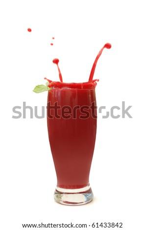 Berry smoothie - stock photo