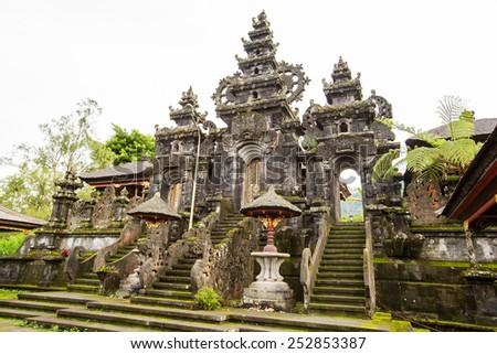 Besakih complex Pura Penataran Agung , hindu temple of Bali, Indonesia - stock photo