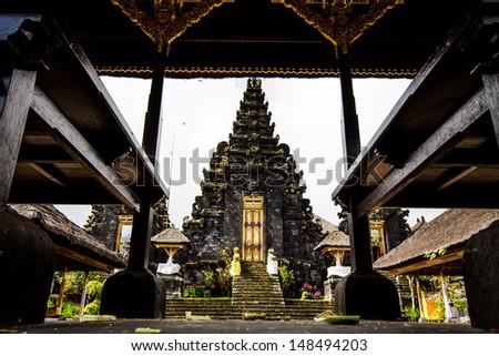 Besakih Temple Bali Indonesia - stock photo