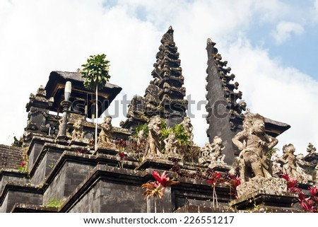 Besakih temple on Bali - stock photo