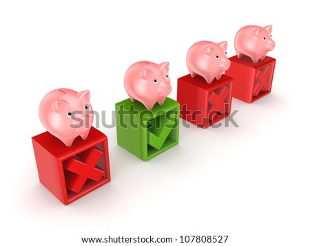 Best bank concept.Isolated on white background.3d rendered. - stock photo