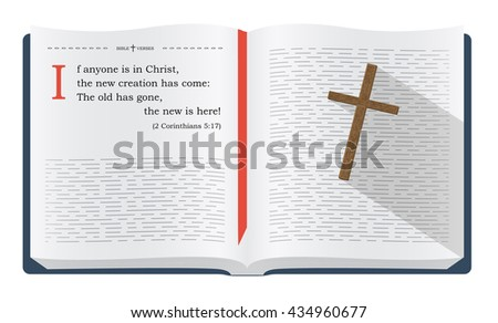 Best Bible verses to remember - 1 John 1:9 about how we become new creation in Jesus Christ - stock photo