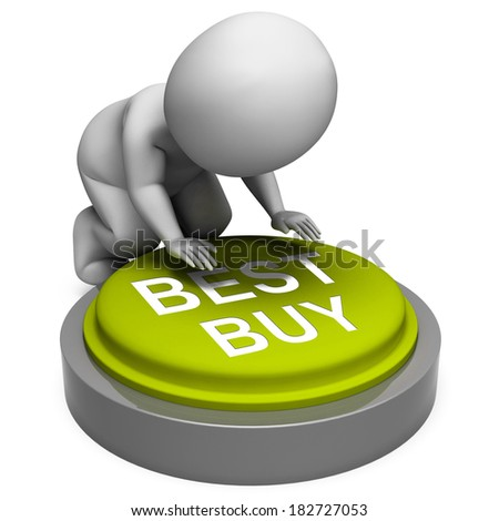 Best Buy Button Showing Superior Product Or Deal - stock photo