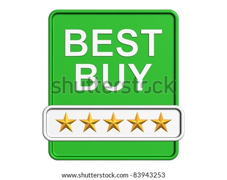 Best Buy stamp. Isolated on the white background. - stock photo