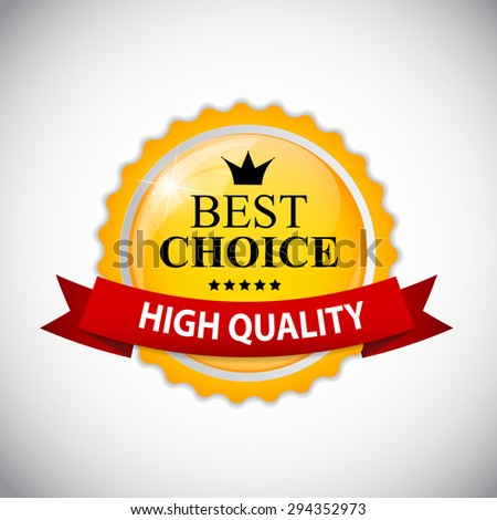 Best Choice Label with Ribbon  Illustration  - stock photo