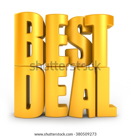 Best deal 3d text isolated over white background - stock photo