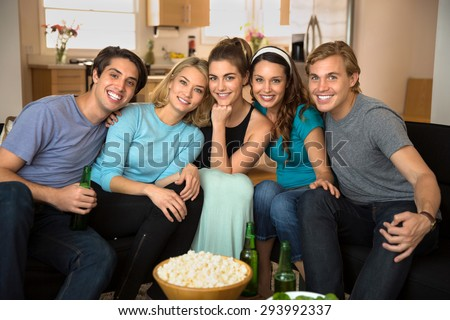 Best friends pose for a portrait together as family and happy to be reunion celebration - stock photo
