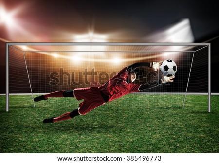 Best goalkeeper - stock photo