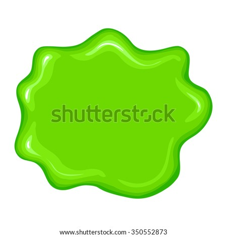 Best green slime sign isolated on a white background - stock photo