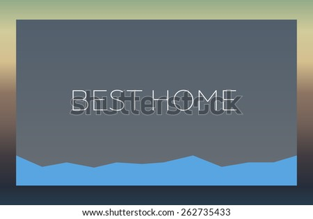 BEST HOME - stock photo