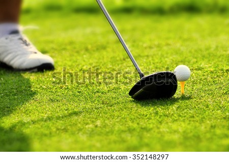 Best images series of golf as a sport, hobby and or  lifestyle - stock photo