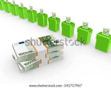 Best investment concept.Isolated on white.3d rendered. - stock photo