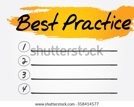Best Practice Blank List concept background - stock photo