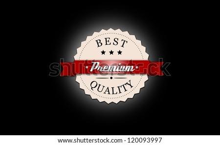 Best, premium quality badge. - stock photo