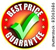 Best Price button/label - red version - stock photo