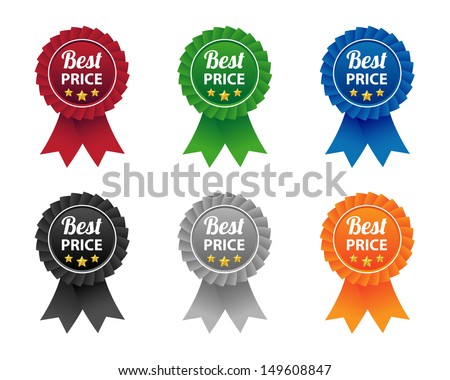 Best price labels. Vector available. - stock photo