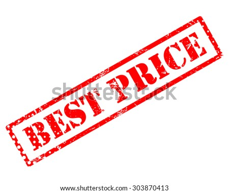 Best price rubber stamp - stock photo