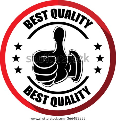 Best quality red, Button, label and sign. - stock photo