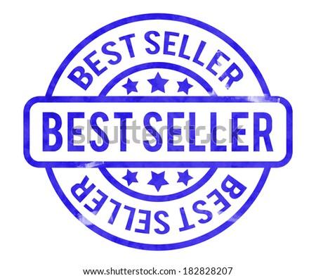 Best Seller Stamp - stock photo