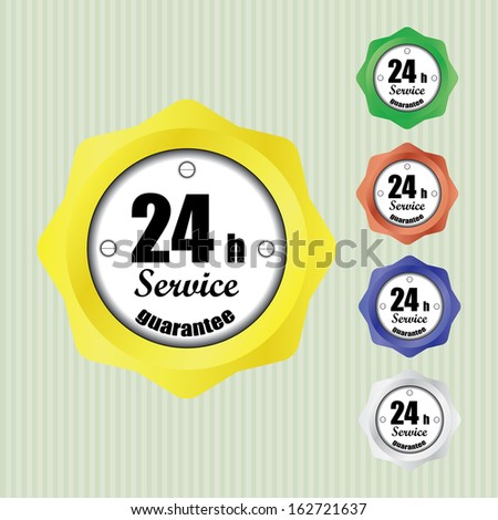 Best Service and support around the clock, 24 hours a day and 7 days a week - jpg. - stock photo
