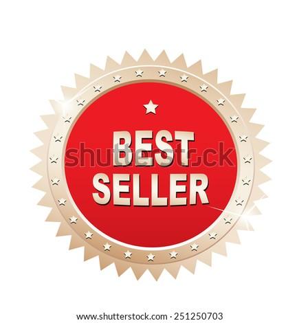 Bestseller label. - stock photo