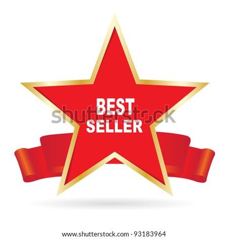 Bestseller label - stock photo