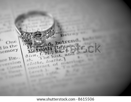 betroth in black & white - stock photo