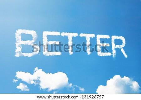 Better a cloud  massage on sky - stock photo