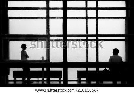 between man and woman - stock photo