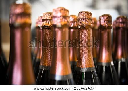 beverage bottles  - stock photo